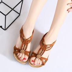 Women's Suede Wedge Heel Sandals Peep Toe Slingbacks With Buckle Split Joint shoes