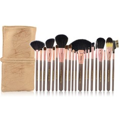 20 Pcs Natural Goat Hair Makeup Brush Set With Pouch