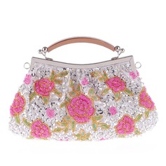 Fashional Satin/Alloy Satchel