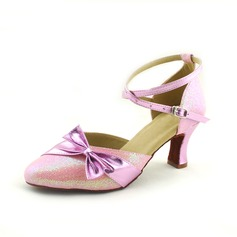 Women's Leatherette Heels Latin Modern With Bowknot Ankle Strap Dance Shoes