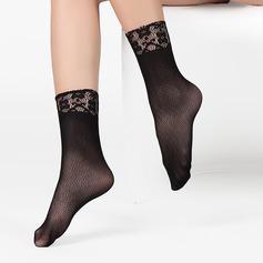 Lace Top Fløyel Liner Socks (Sett med 6)