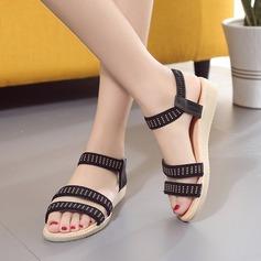 Women's Leatherette Wedge Heel Sandals Peep Toe Slingbacks With Elastic Band shoes