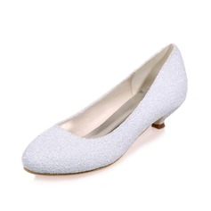 Women's Leatherette Kitten Heel Closed Toe Pumps