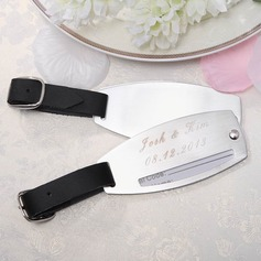 Personalized Simple Stainless Steel Luggage Tag (Set of 2)