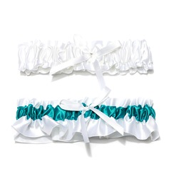 2-Piece Charming Satin With Beading Wedding Garters