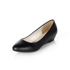 Couro Plataforma Bombas Calços sapatos