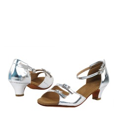 Patent Leather Heels Latin With Buckle Dance Shoes