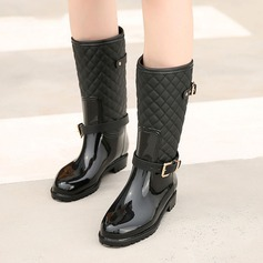 Women's PVC Low Heel Boots Flip-Flops Rain Boots With Buckle shoes