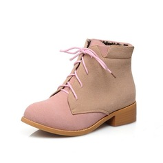 Suede Chunky Heel Ankle Boots shoes