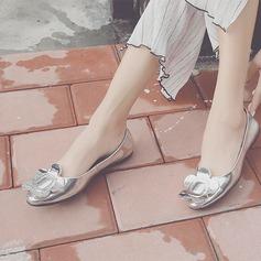 Kvinnor Äkta läder Flat Heel Platta Skor / Fritidsskor med Blomma skor