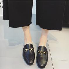 Femmes Similicuir Talon plat Chaussures plates Escarpins Chaussons avec La copie Animale chaussures