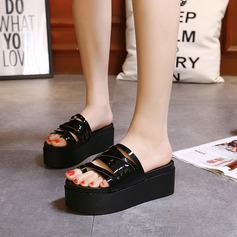 Women's Leatherette Flat Heel Sandals Slippers shoes