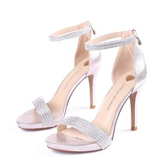 Women's Sparkling Glitter Stiletto Heel Sandals