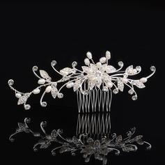 Glamourous Rhinestone/Freshwater Pearl Combs & Barrettes