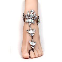Rhinestone Alloy Foot Jewellery Accessories
