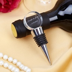 Personalized Round Chrome Bottle Stopper