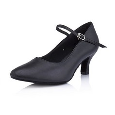 Women's Real Leather Heels Pumps Ballroom Dance Shoes