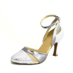 Women's Leatherette Heels Latin With Ankle Strap Dance Shoes
