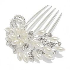 Gorgeous Alloy/Pearl Combs & Barrettes