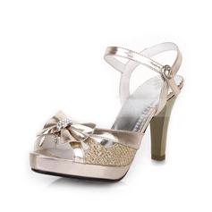 Kadın Suni deri Külah Topuk Sandalet Arkası açık iskarpin Ile İlmek ayakkabı