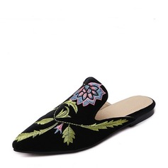 Women's Suede Flat Heel Flats Closed Toe Slingbacks Slippers With Others shoes