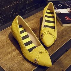 Kvinnor Låg Klack Pumps Stängt Toe skor