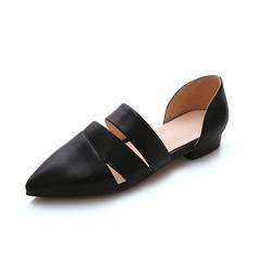 Kunstleder Flascher Absatz Flache Schuhe Geschlossene Zehe Schuhe