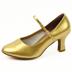 Women's Leatherette Heels Pumps Ballroom With Buckle Dance Shoes