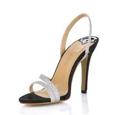 Mulheres Couro Salto agulha Sandálias Sapatos abertos sapatos