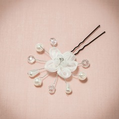 Classic Rhinestone/Imitation Pearls/Net Yarn Hairpins/Flowers & Feathers