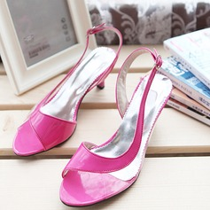 Women's Leatherette Stiletto Heel Sandals Pumps Peep Toe Slingbacks With Buckle Others shoes