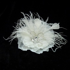 Glamourous Crystal/Feather/Satin Flowers & Feathers