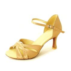 Donna Raso Tacchi Sandalo Latino con Fibbia Scarpe da ballo