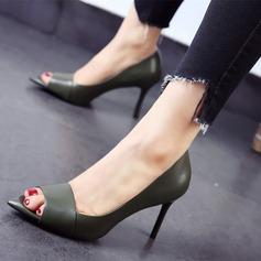 Donna Similpelle Tacco a spillo Sandalo Punta aperta scarpe