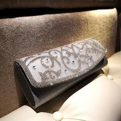 Gorgeous Crystal/ Rhinestone/PU Wristlets/Satchel