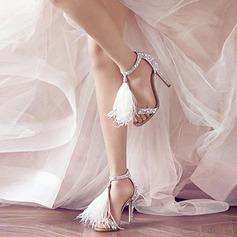 Kvinnor Mocka Stilettklack Pumps Sandaler med Tofs