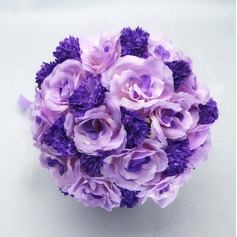 Romantic Round Satin/Cotton Bridal Bouquets