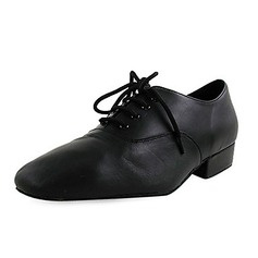 Men's Kids' Real Leather Flats Latin Modern Dance Shoes