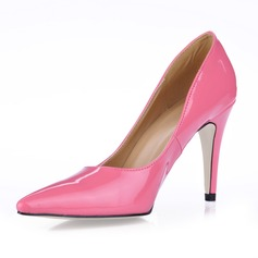 Patent Leather Stiletto Heel Closed Toe Pompy