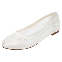 Women's Silk Like Satin Flat Heel Closed Toe Flats