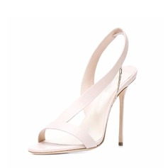 Women's Leatherette Stiletto Heel Peep Toe Pumps Sandals Slingbacks With Others