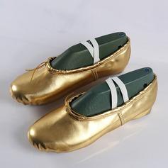 Frauen Kunstleder Flache Schuhe Ballett Tanzschuhe
