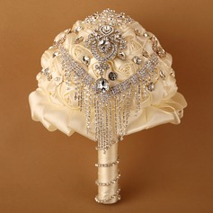 Nice Round Satin Bridal Bouquets