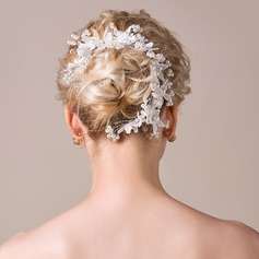 Elegant Imitation Pearls/Lace Headbands