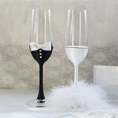 Getting Together Glass Toasting Flutes (Set Of 2)