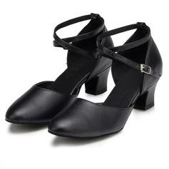 Donna Vera pelle Tacchi Stiletto Moderno con Listino alla caviglia Scarpe da ballo