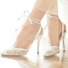 Femmes Dentelle Talon stiletto Sandales Beach Wedding Shoes