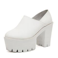 Femmes Similicuir Talon bottier Escarpins Plateforme avec Semelle chaussures