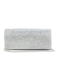 Shining Silk With Sequin Clutches
