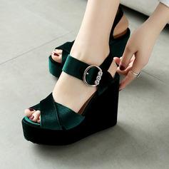 Femmes Talon compensé Sandales avec Boucle chaussures